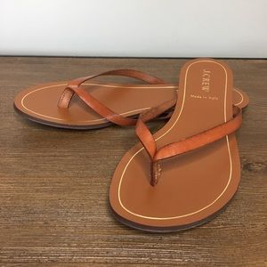 NWT J. Crew Brown Leather Rio Sandals